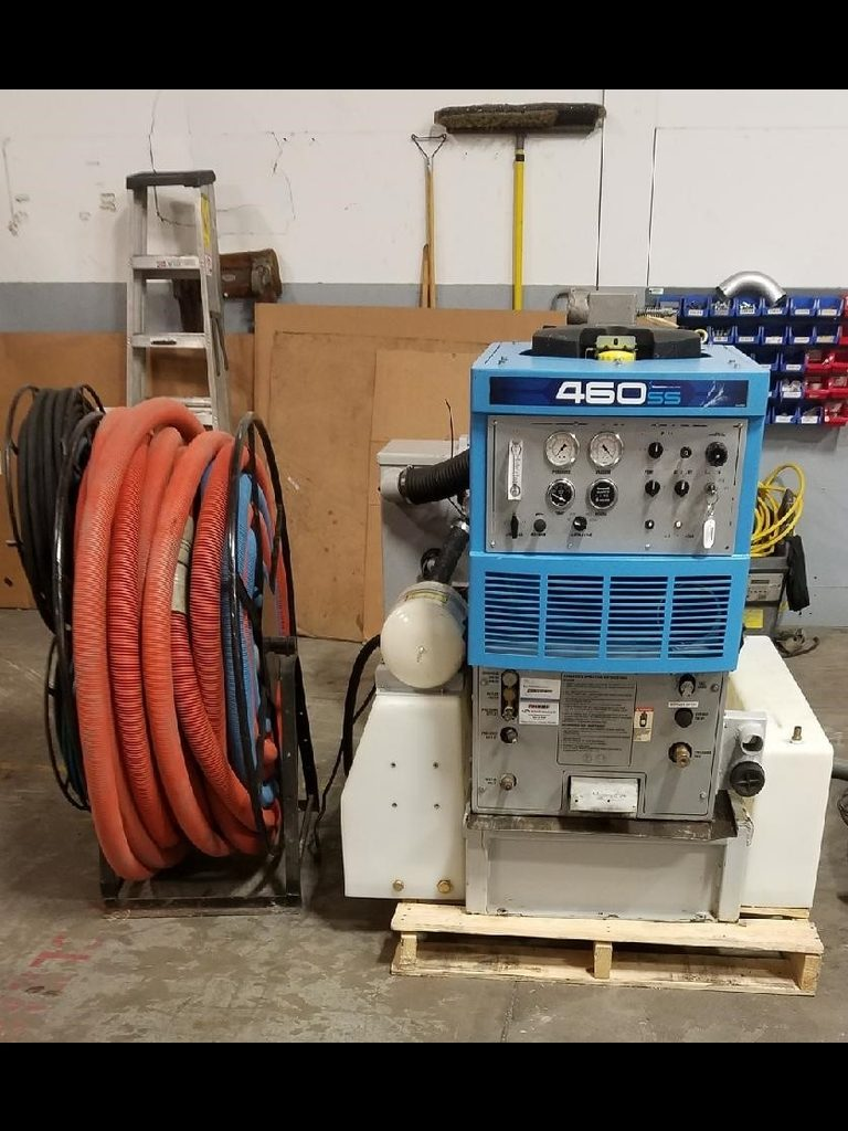 An image of the whole package of a used equipment
