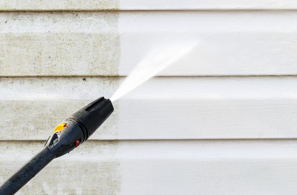 Utilizing different uses for pressure washing equipment.