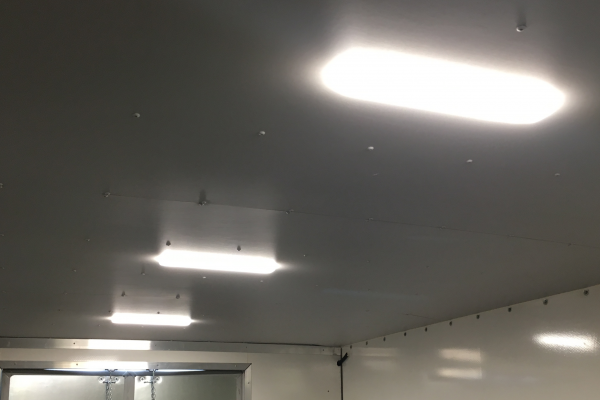Box truck interior lighting