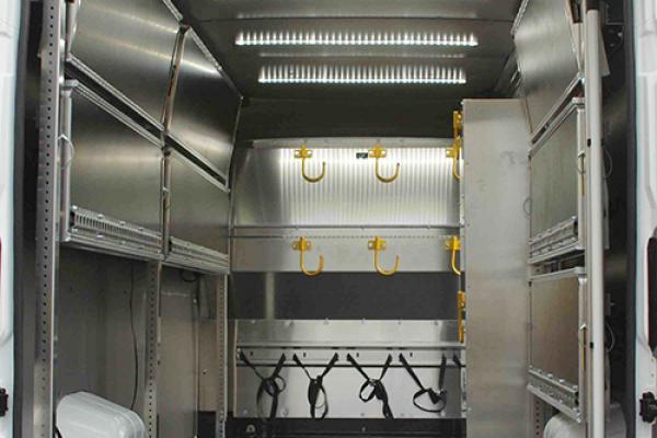 Van interior lighting